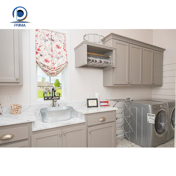 Laundry Countertop Materials : Gray matter solid wood laundry cabinet with countertop