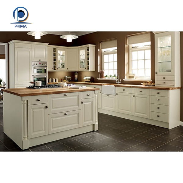 prima low price solid wood kitchen cabinet